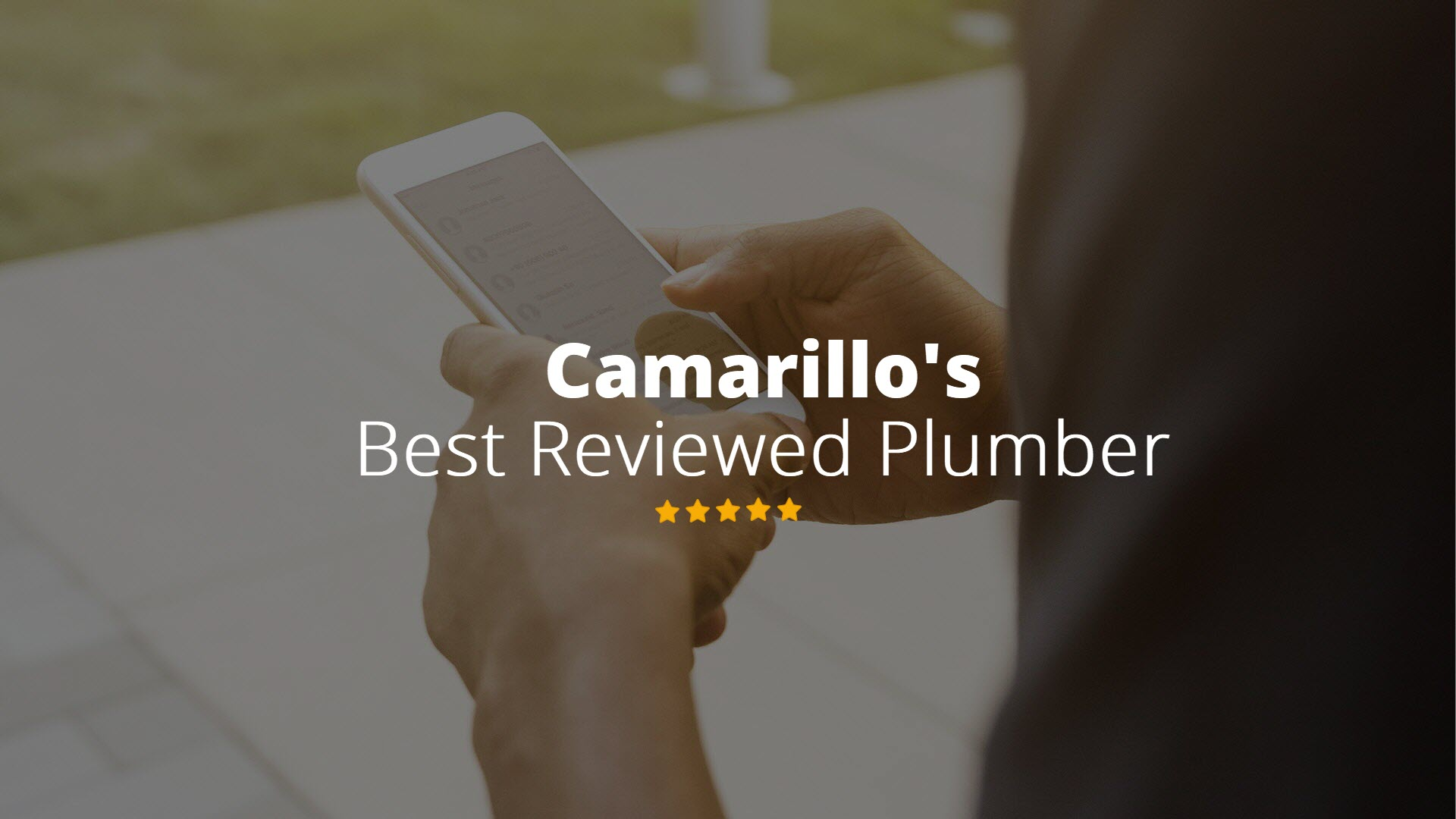 Camarillo's Best rated Plumber