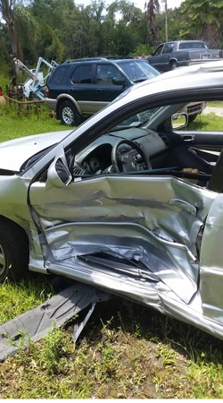 2002 Honda Civic, t boned work of art