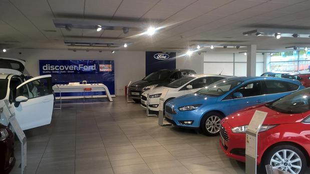Inside the Ford Coatbridge showroom