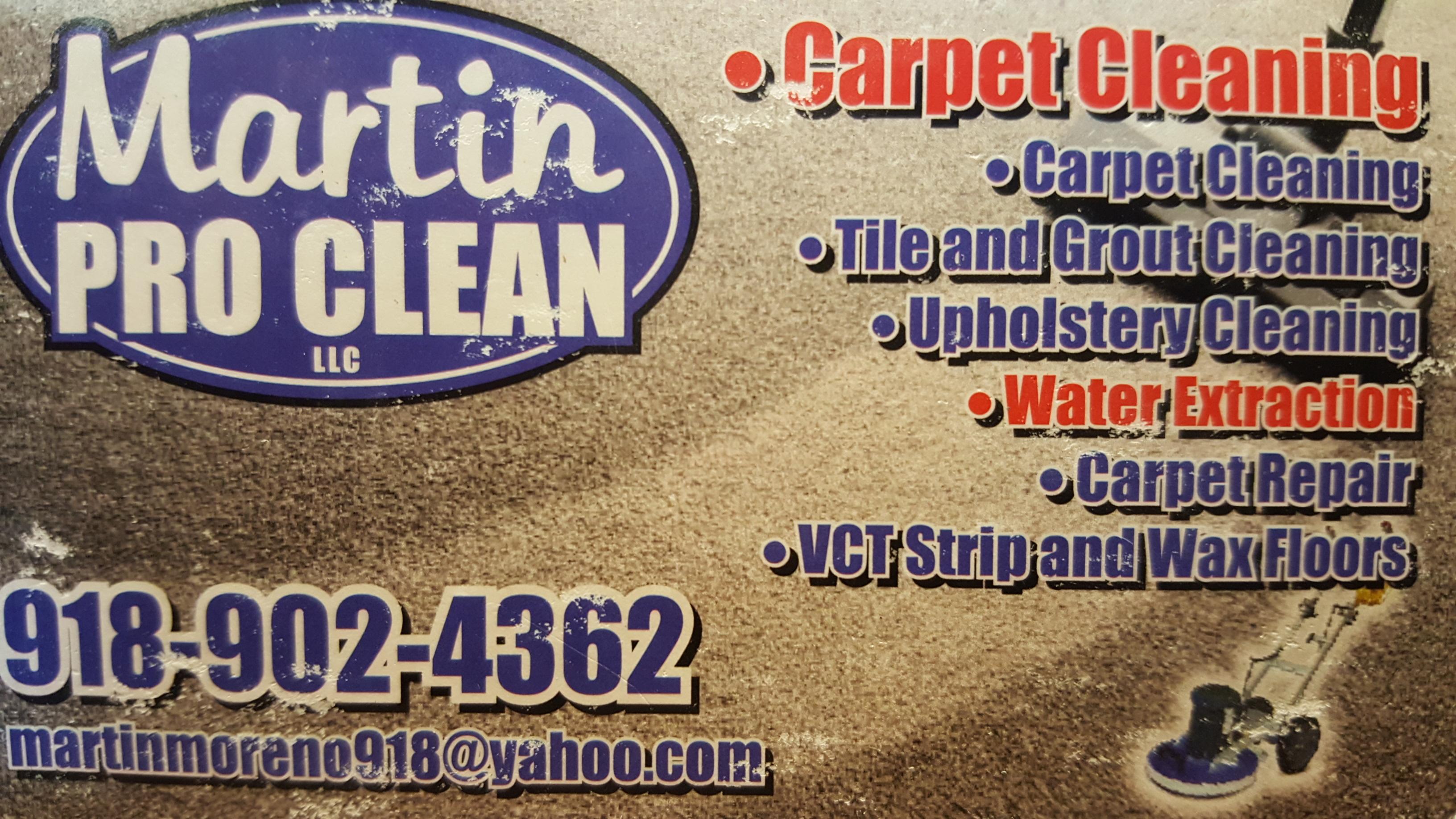 Martin Pro Clean - Tulsa, OK 74129 - (918)902-4362   ShowMeLocal.com