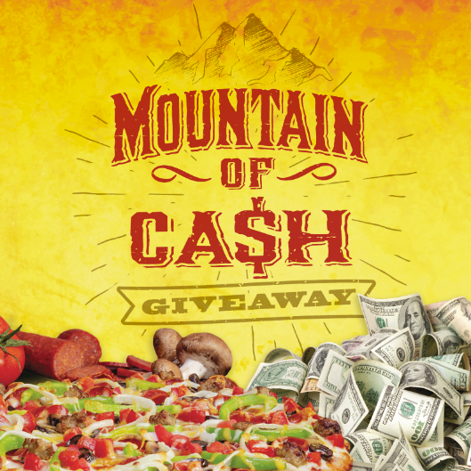Order Pizza and Register for a chance to win Cash!
