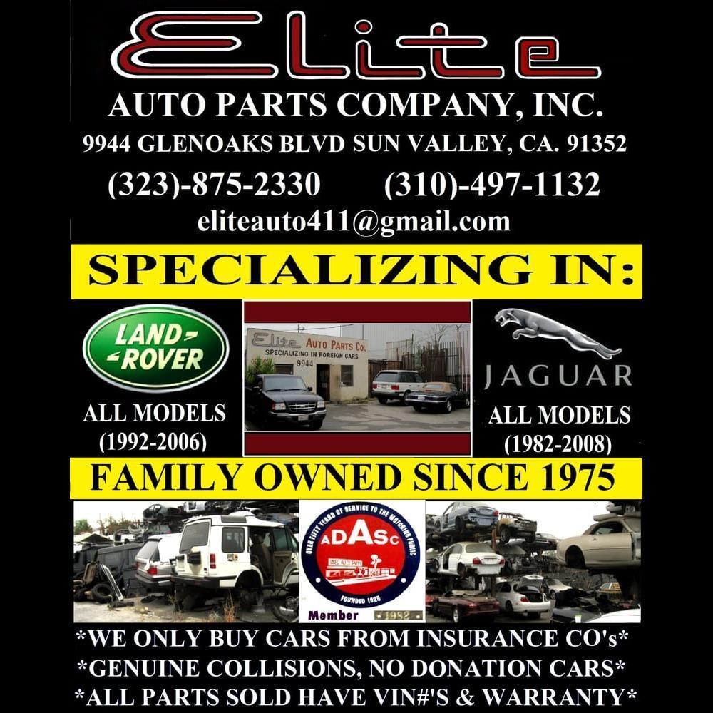 Elite Auto Parts Jaguar Land Rover