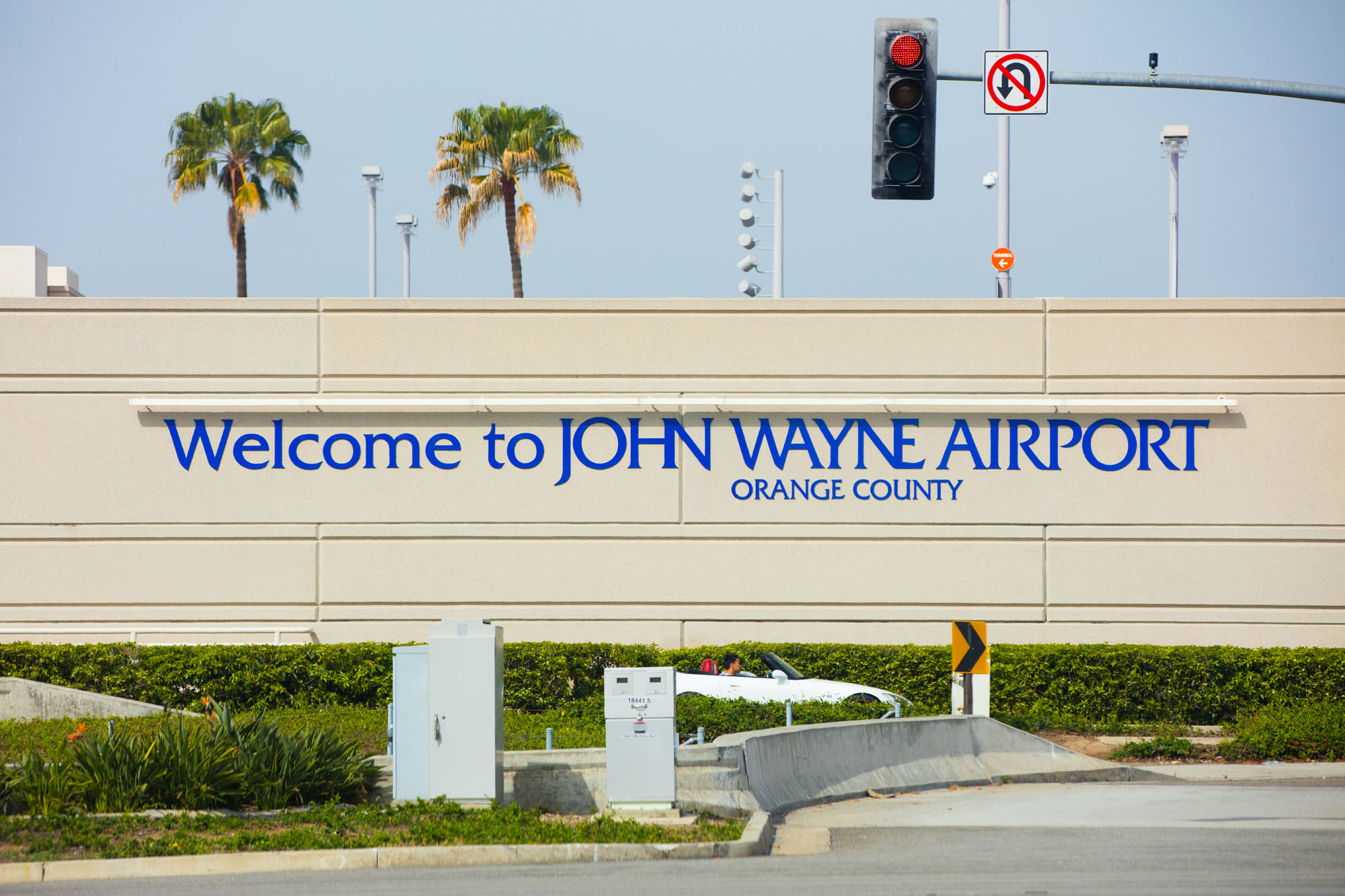 Five minutes from Orange County's John Wayne Airport.