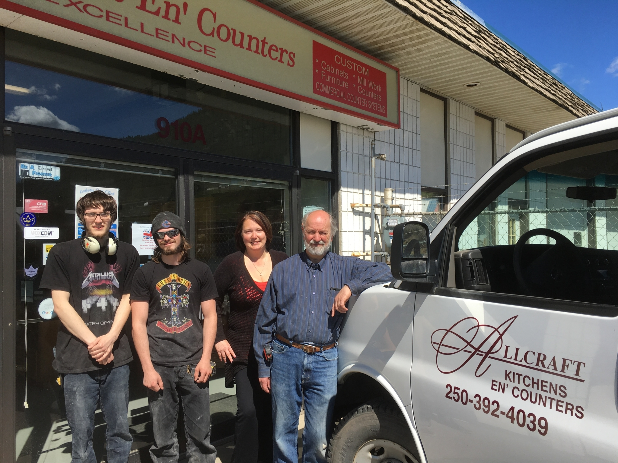 Allcraft Kitchens En' Counters in Williams Lake: the Team at Allcraft Kitchens