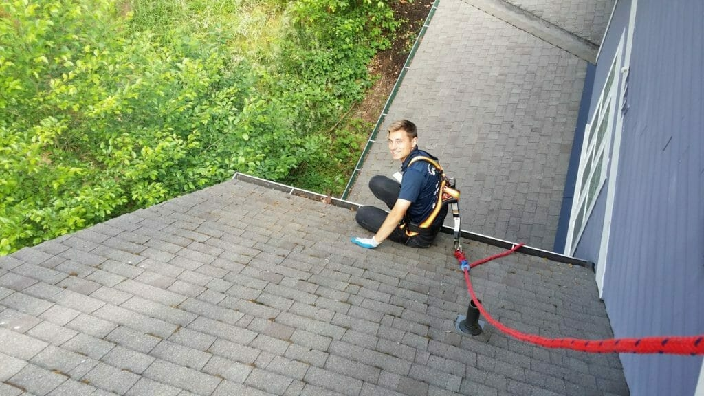 Gutter Cleaning, Safety is a Must