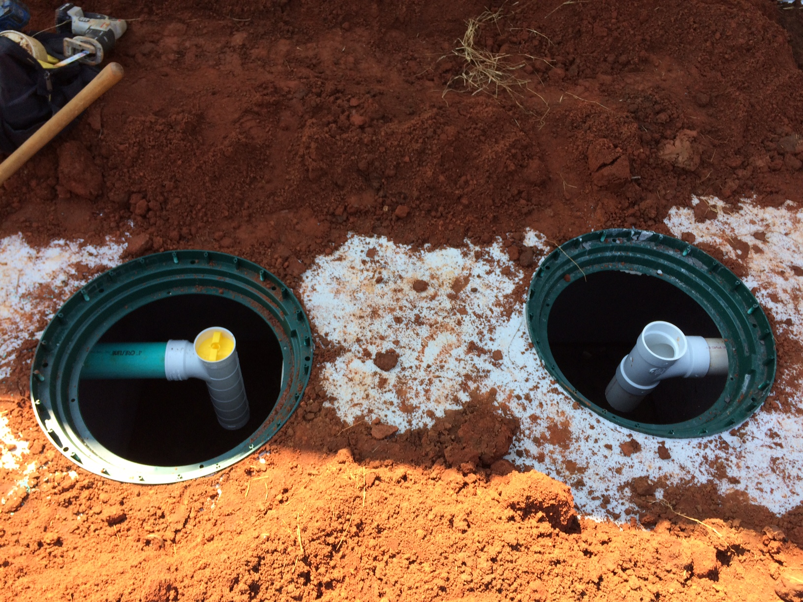 1000 gallon septic tank with required risers and filter