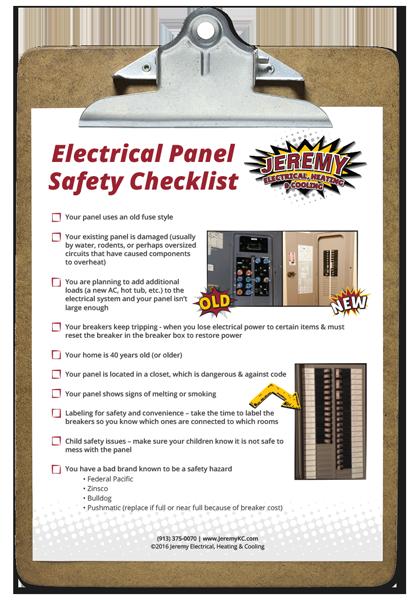 Kansas City Electrical Panel Safety Checklist