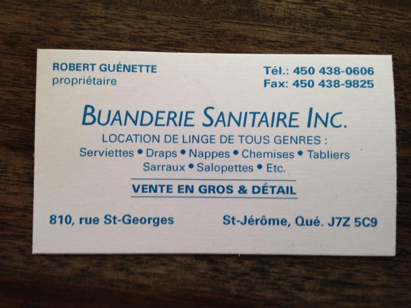 Buanderie Sanitaire Inc à Saint-Jérôme