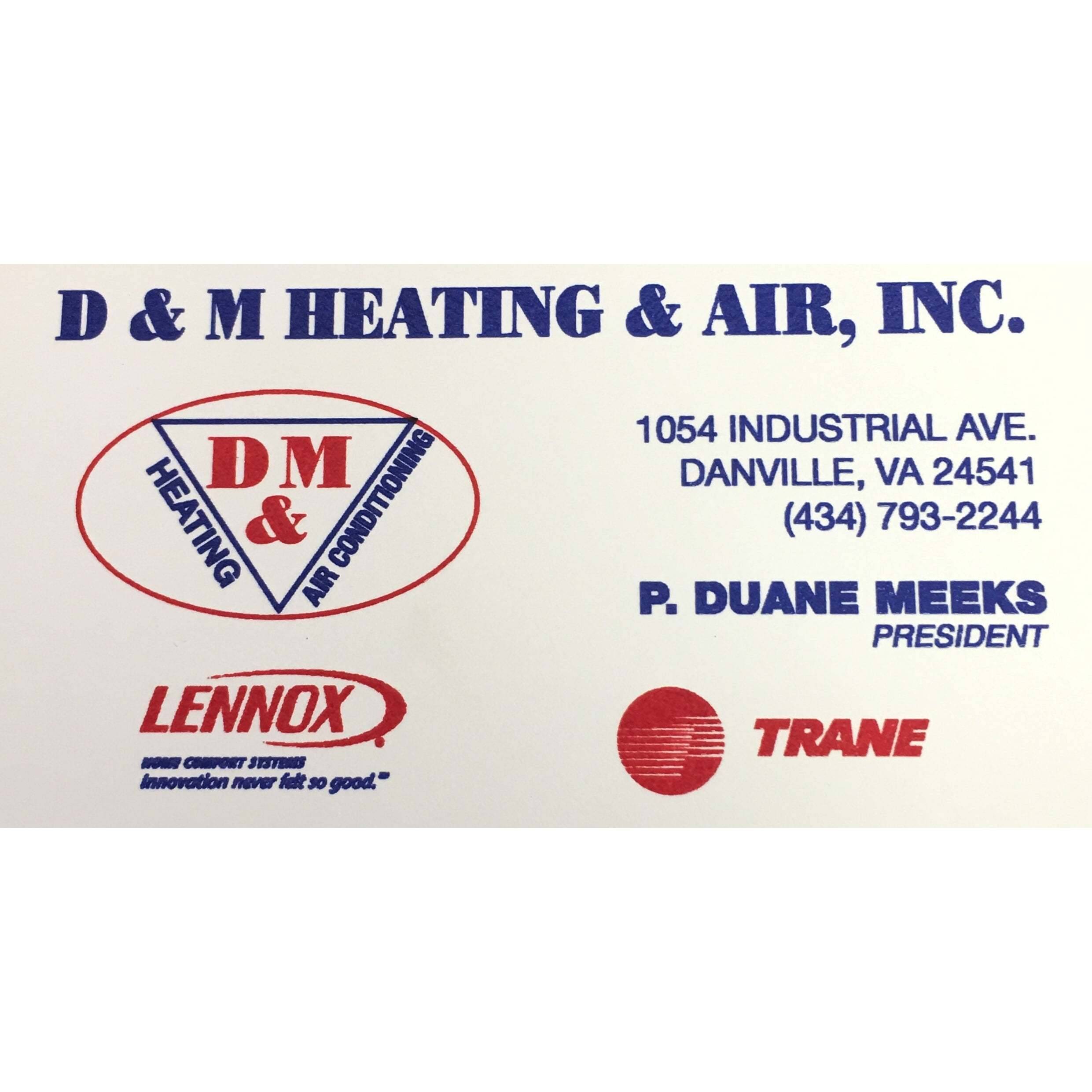 D & M Heating &Air Conditioning Inc.