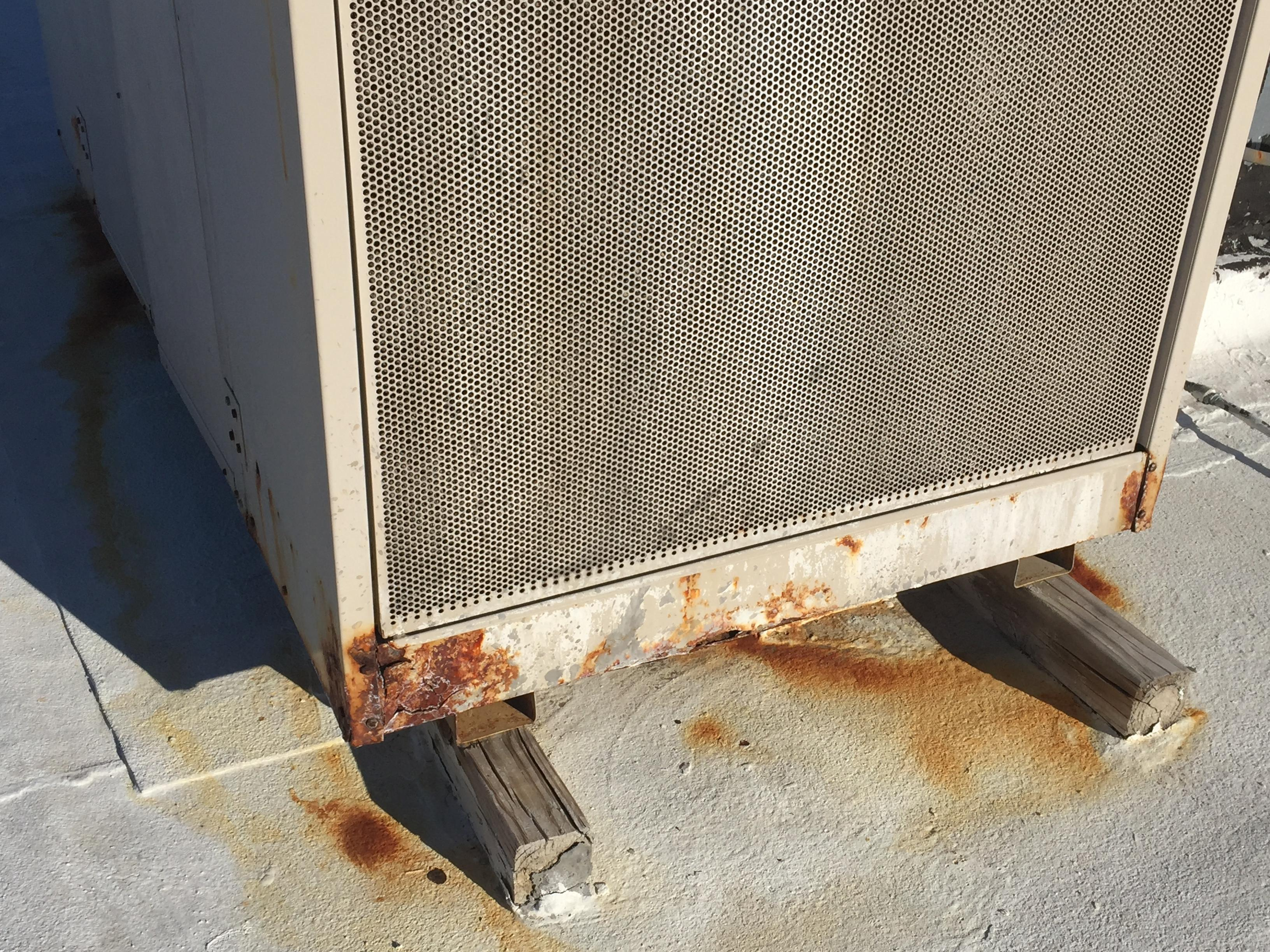 Lack of maintenance on this evaporate cooler