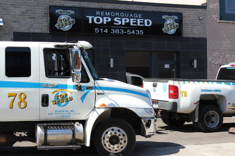 Remorquage Top Speed 24H Montreal Towing