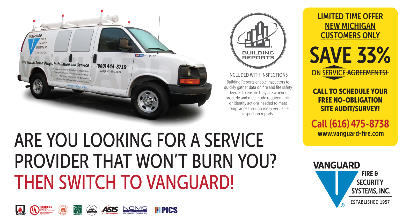 Vanguard Fire and Security Systems, Inc. 2101 Martindale Avenue SW ...