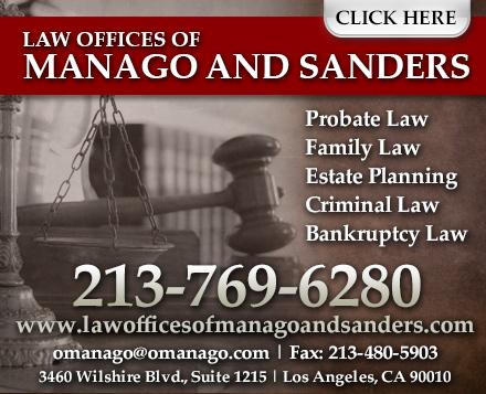 Law Offices of Manago and Sanders - ad image
