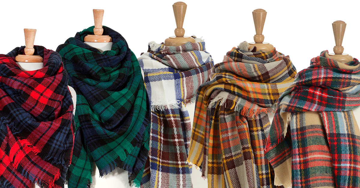 Wholesale blanket scarves.