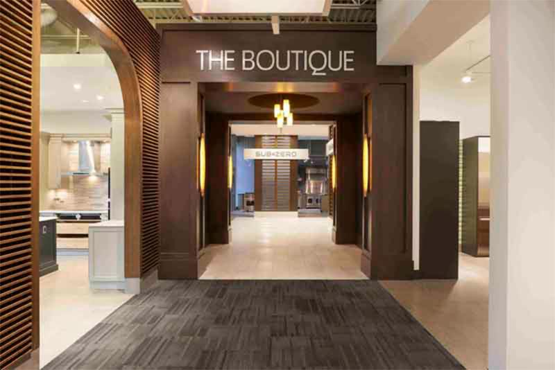 Trail Appliances in Richmond: The Boutique entrance into the premium brands Trail Appliances carries like Bosch, Miele, Blomberg, Bertazzoni, Dacor, Subzero and Wolf.
