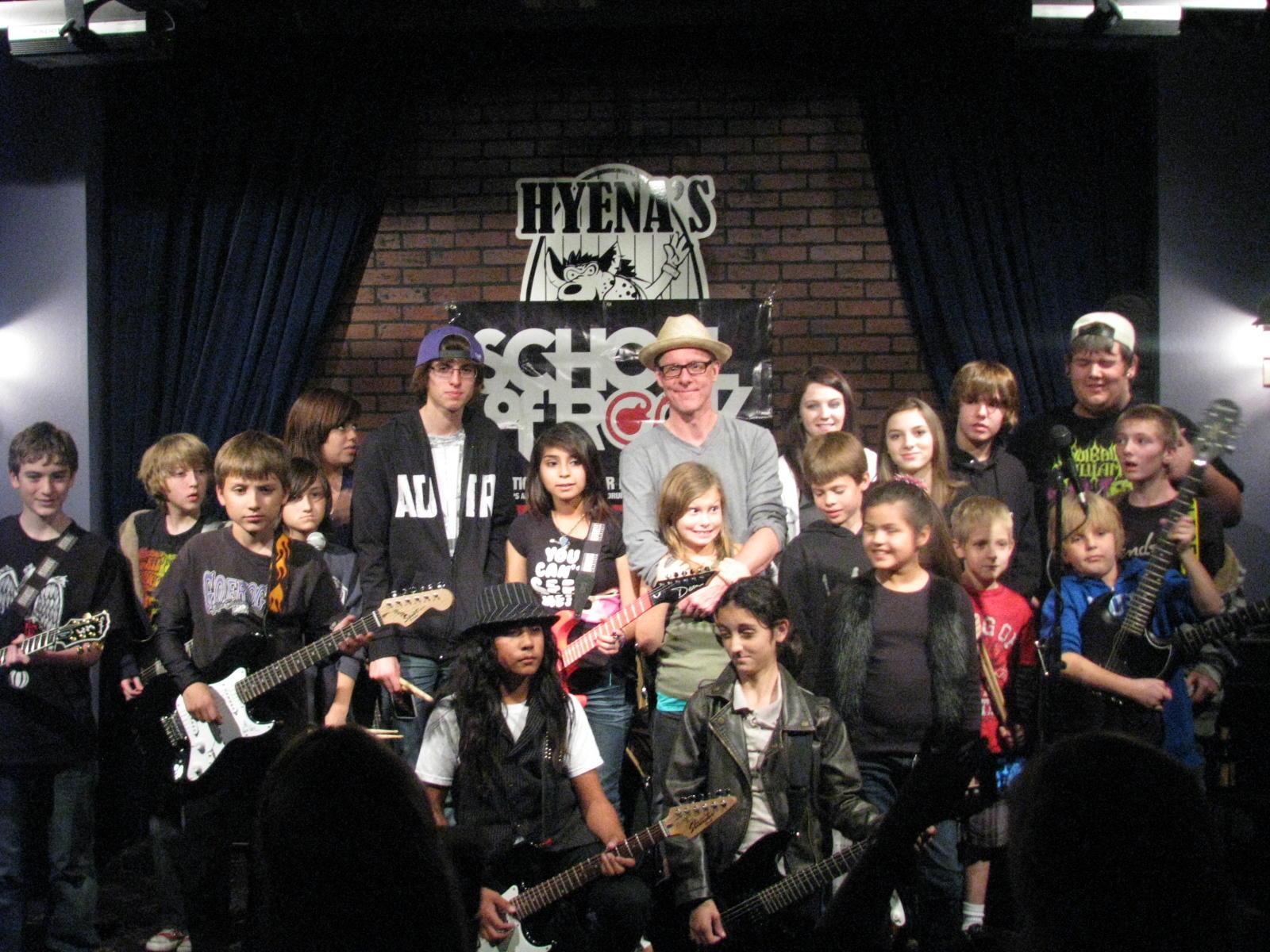 School of Rock kids with Vaden Todd Lewis of the Toadies!