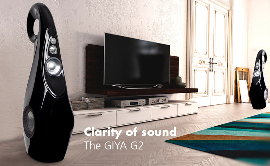 Executive Stereo in North York: The GIYA G2 offers the looks and nearly all the performance of the GIYA G1 in a smaller package. It has the same front-firing proprietary drivers, same crossover, same unique cabinet and most importantly, the same amazing sound.