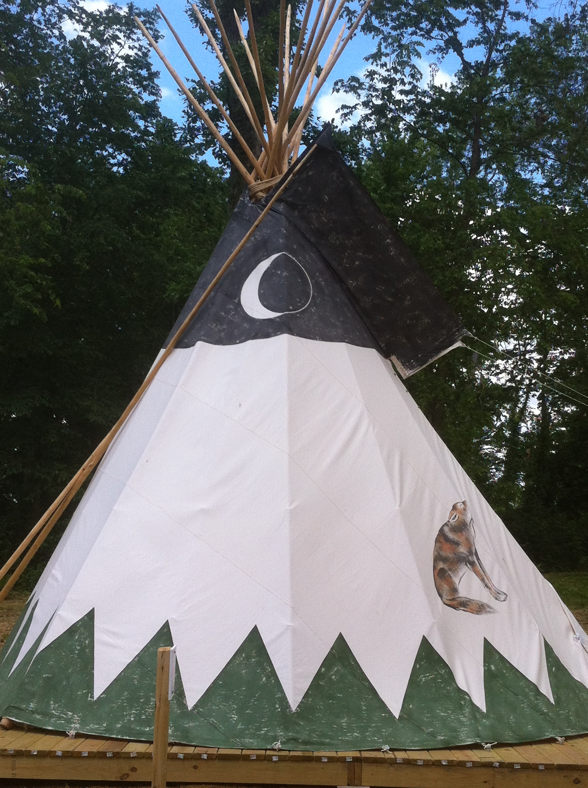 Our Coyote Teepee.