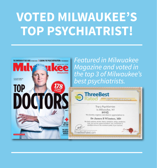 3 Top Milwaukee, WI Psychiatrists Voted in Milwaukee Magazine