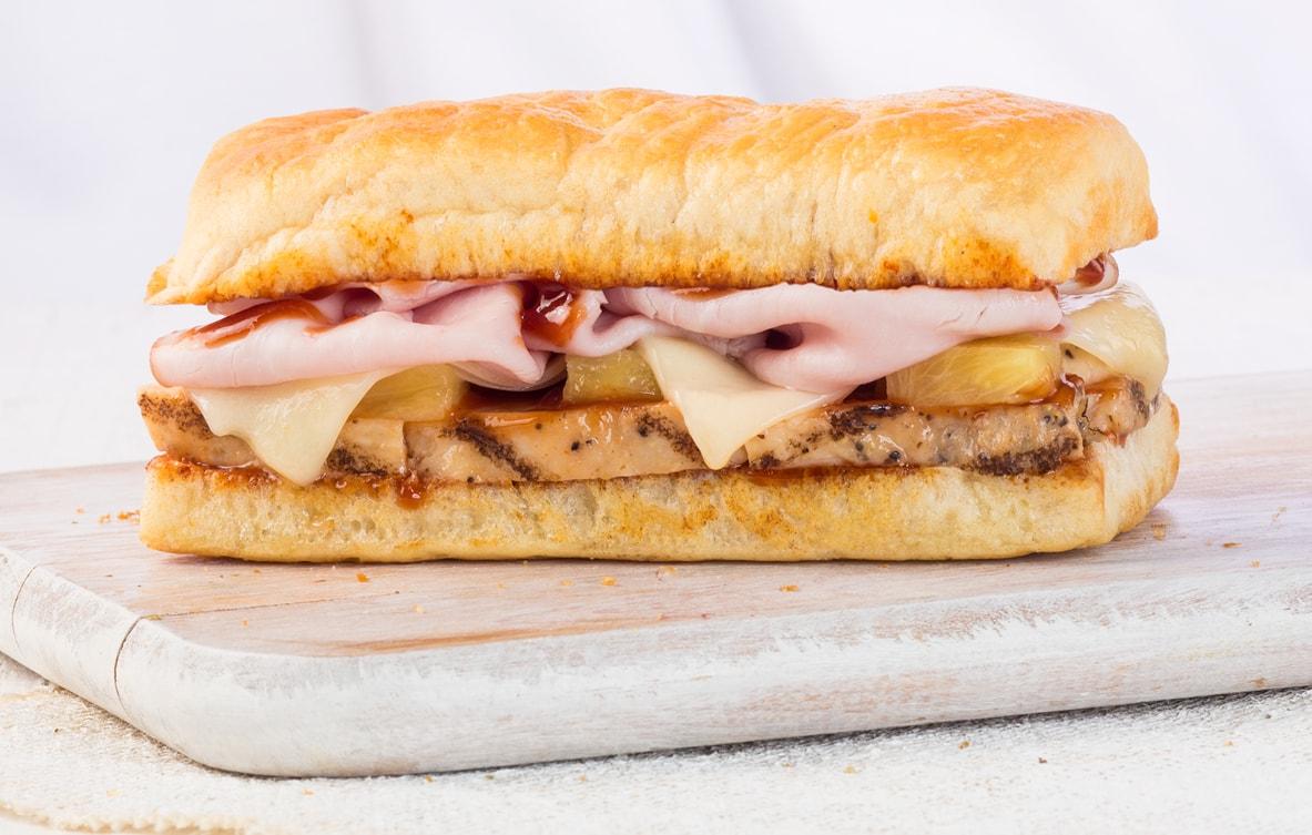 recipe: earl of sandwich bbq chicken flatbread [7]