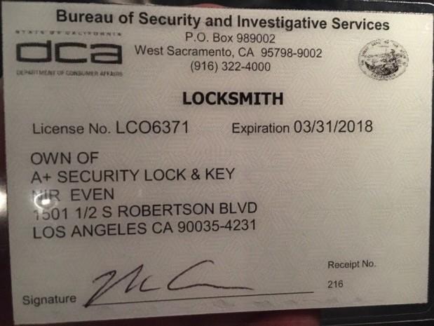 A+ Security Lock & Key image 0