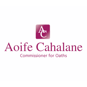 Aoife Cahalane, Commissioner for Oaths