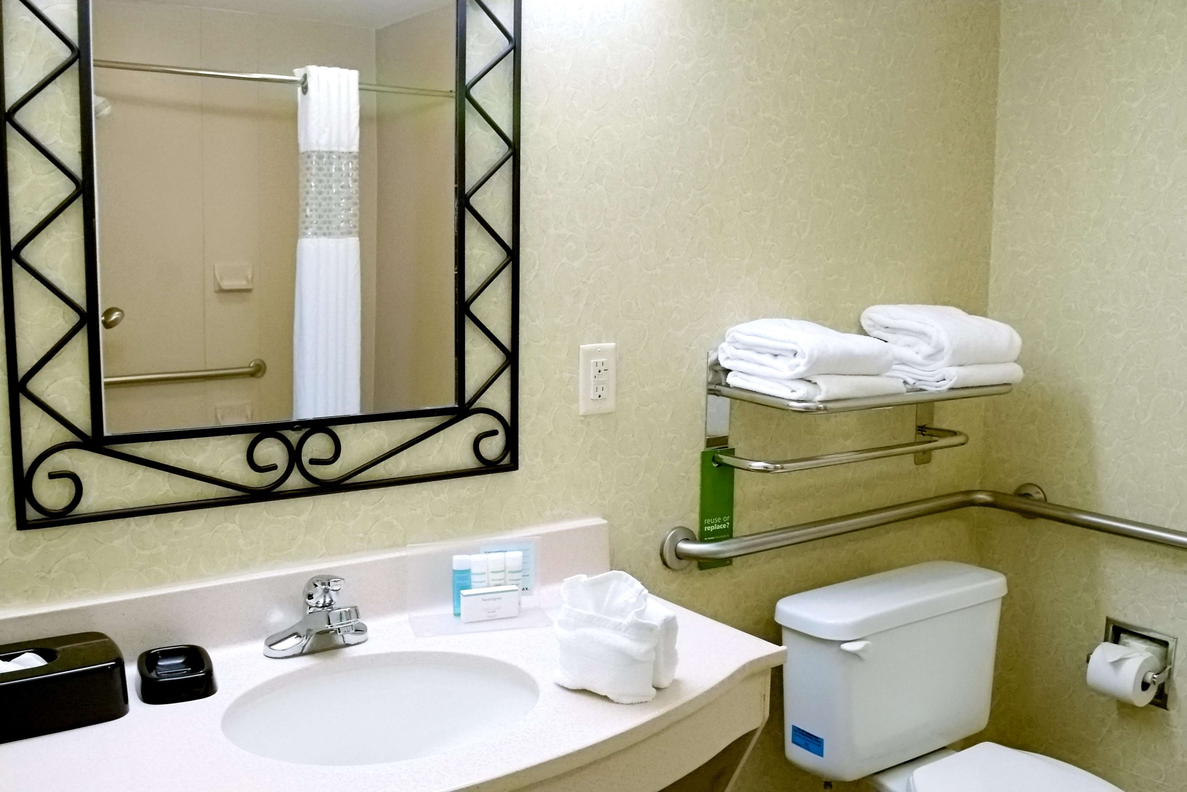 Accessible Bathroom wRoll In Shower