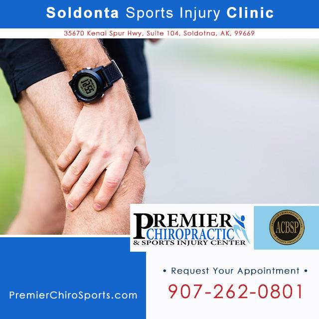 Soldotna sports injury clinic on the Kenai Peninsula. Call Premier Chiropractic & Sports Injury Center: 907-262-0801.
