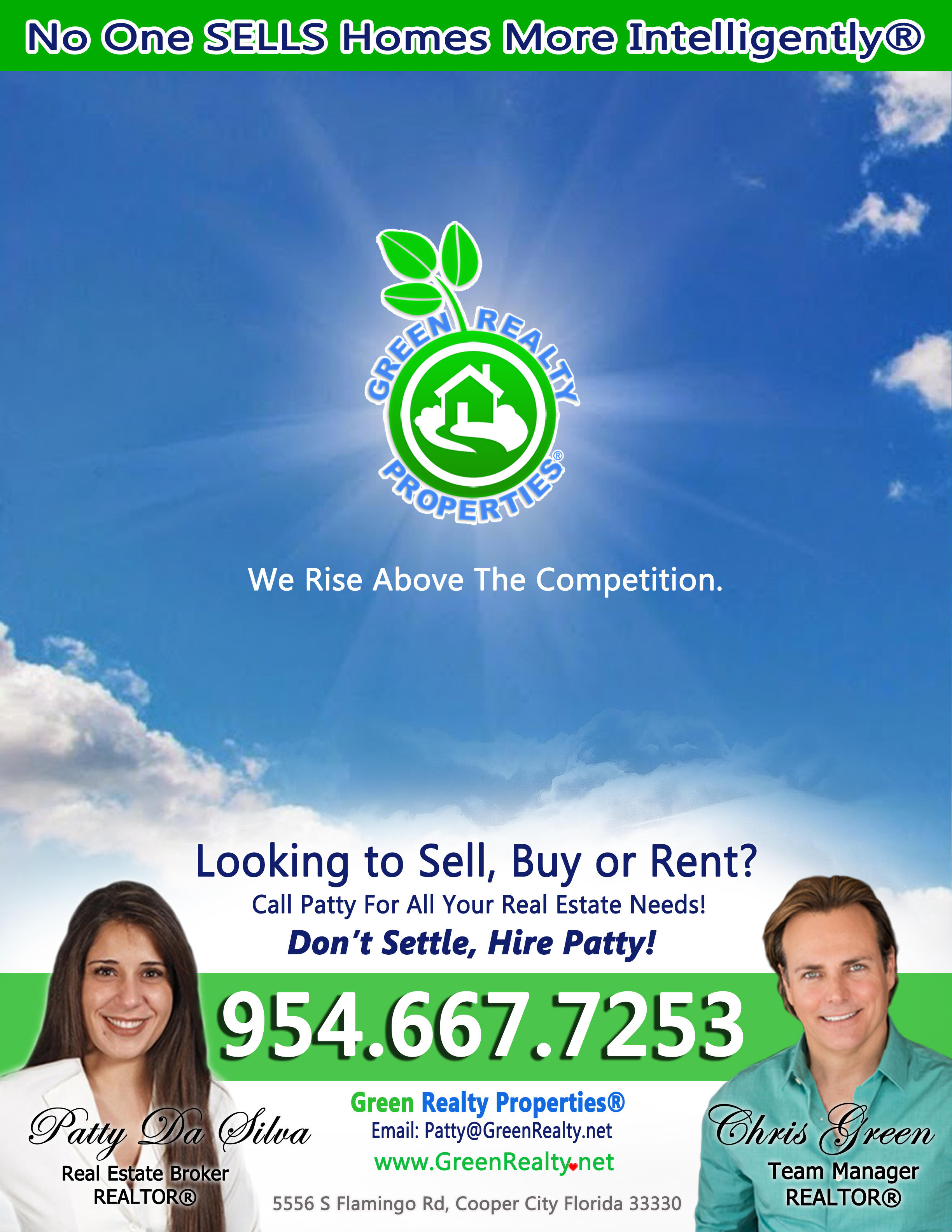 Patty Da Silva SELLS Homes - Green Realty Properties