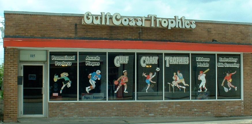 Awards by gulf coast trophies 115 shaver street for T shirt printing pasadena tx