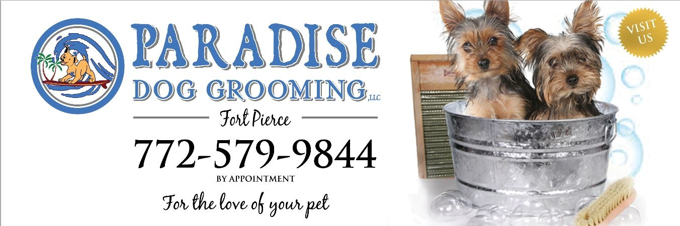 Paradise dog grooming llc coupons near me in fort pierce for Dog grooming salons near me