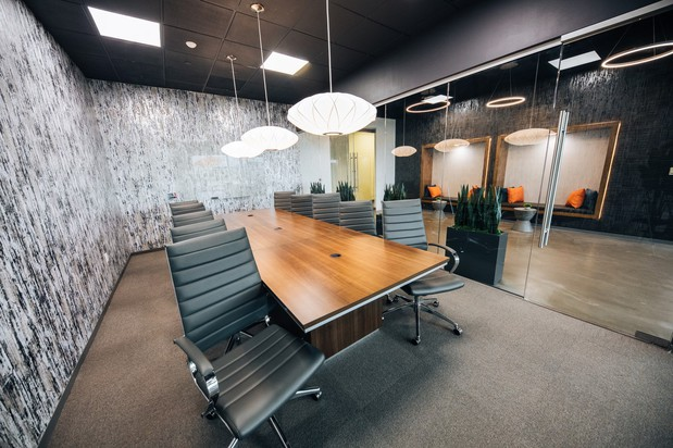 Professional Meeting Rooms A modern, professional environment for productive meetings.