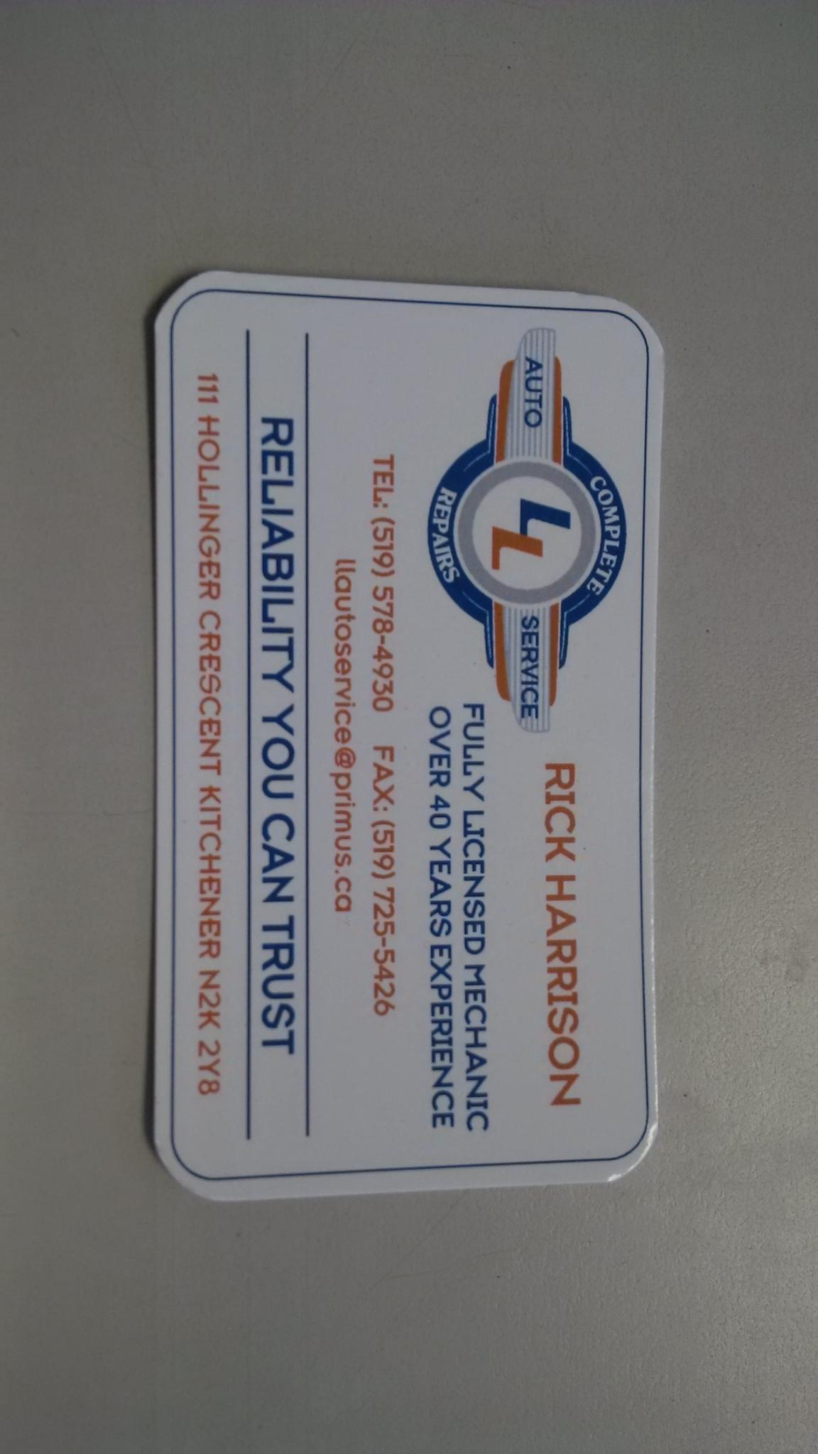 L&L Auto Service in Kitchener