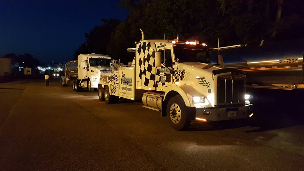 Davenport's Towing & Recovery 24-hour service.