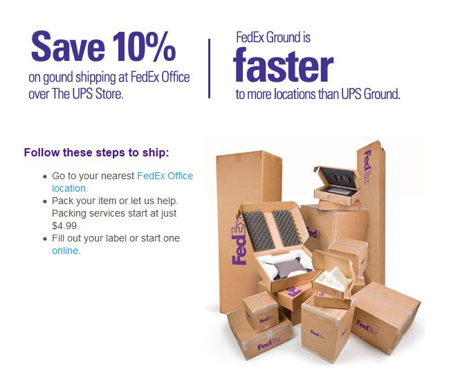 FedEx Office Ship Center - ad image