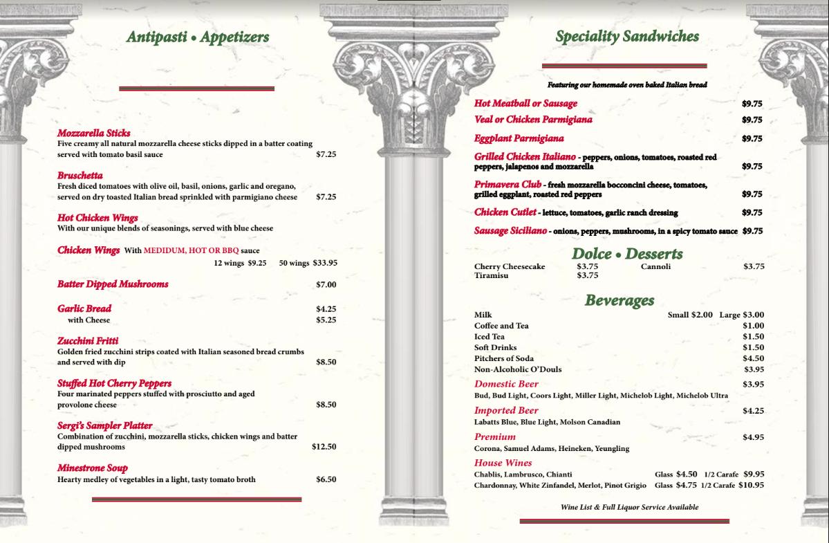 Sergi's Italian Restaurant,  Pizzeria & Banquet Hall image 3