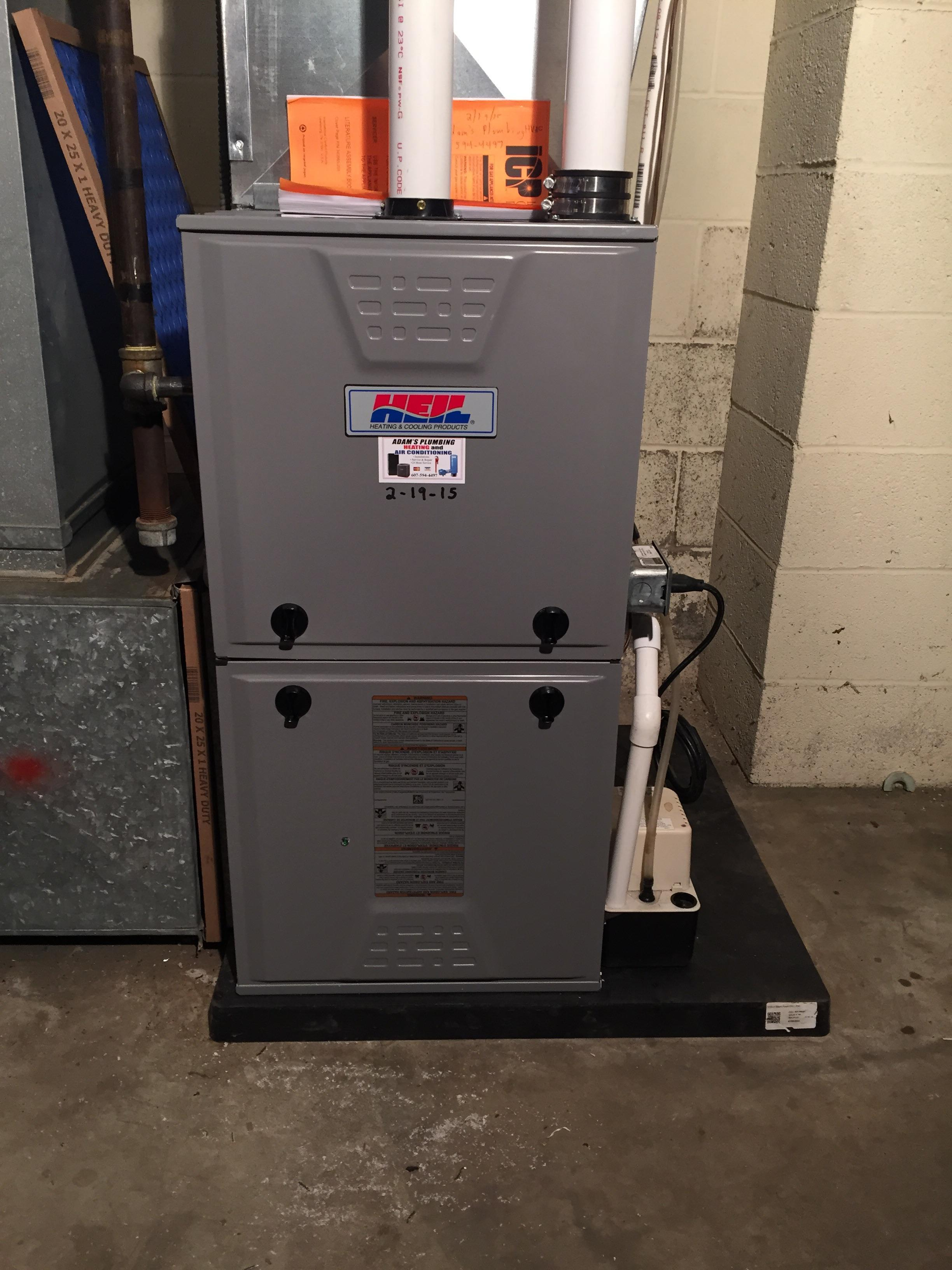 New Furnace, replaced a continuing problematic older furnace