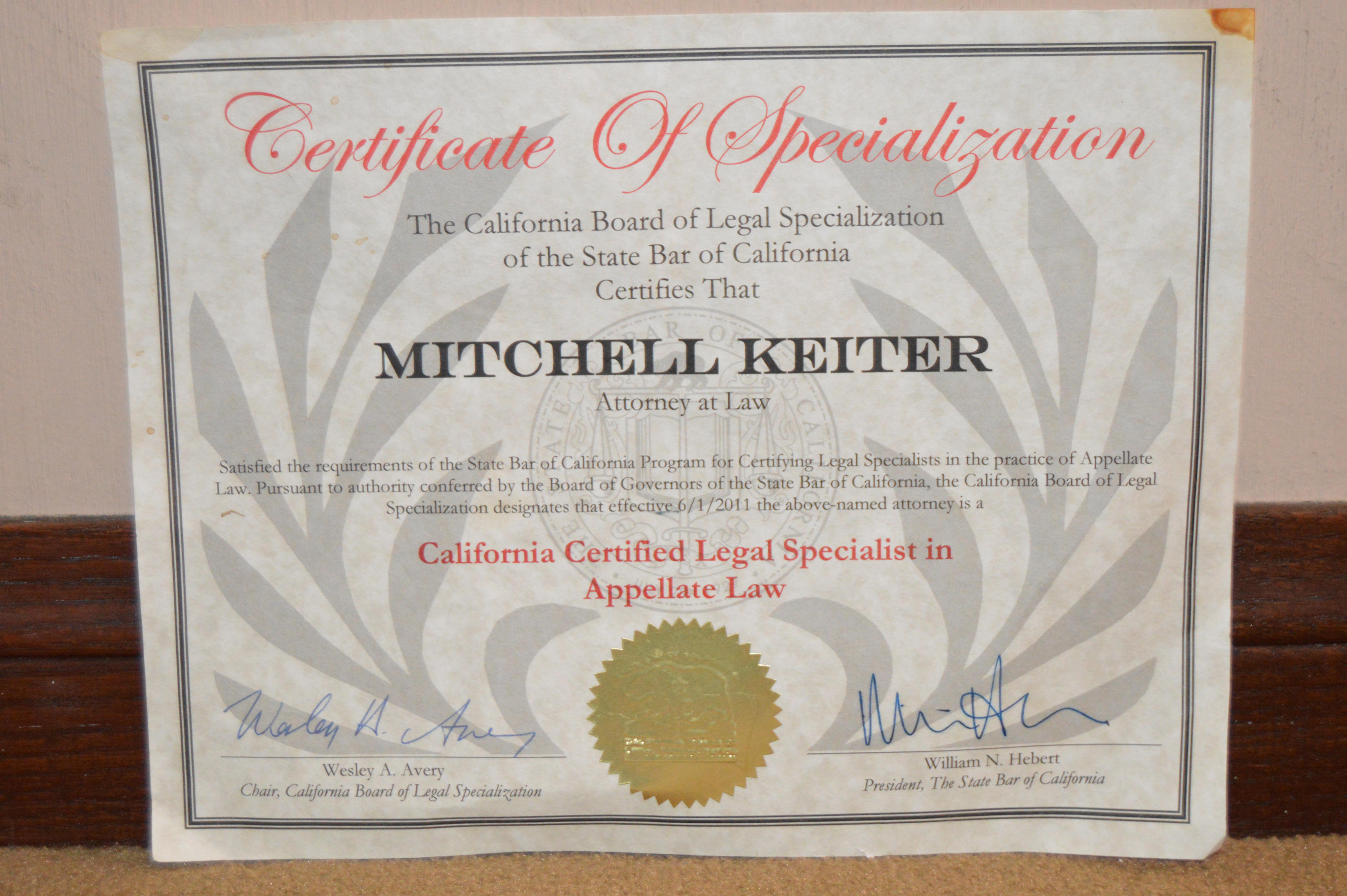Keiter Appellate Law