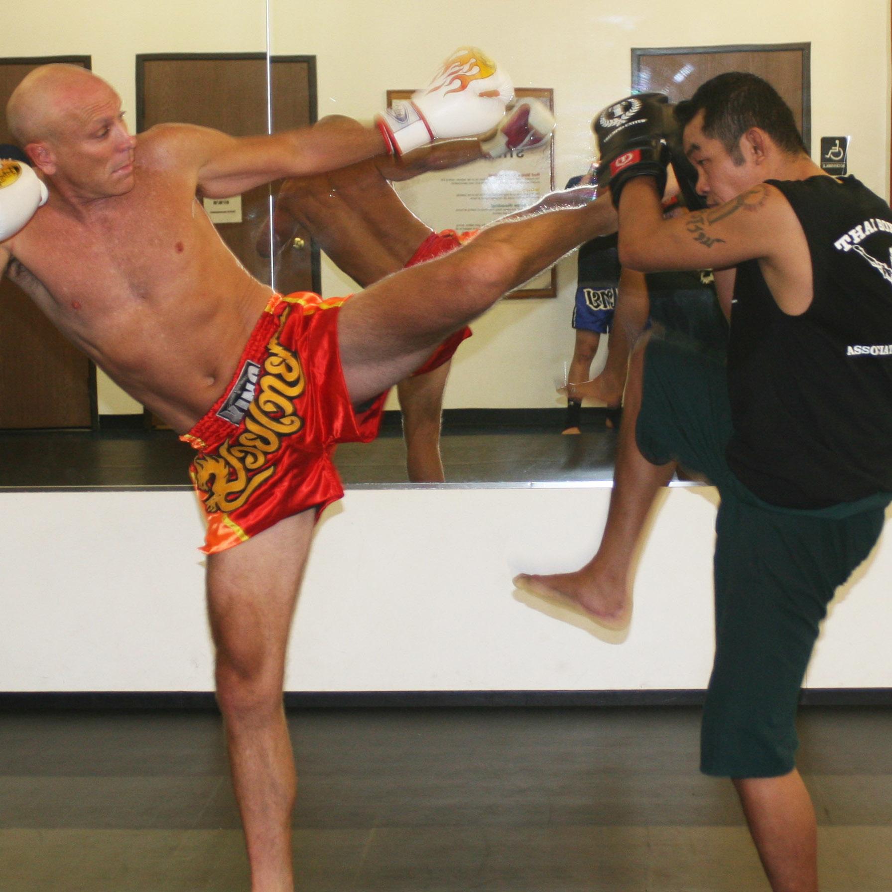 Ajarn Daniel Sullivan with legendary Muay Thai Champion, Sangtiennoi Sor Rungroj