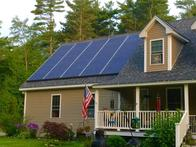 This beautiful home in New Hampshire went with a 60 panel job. 25 panels in the front and 35 in the back offsetting 100% of the homeowners utility bill.