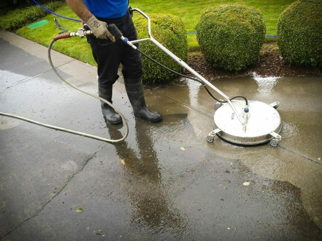 Pressure Washing a Walkway