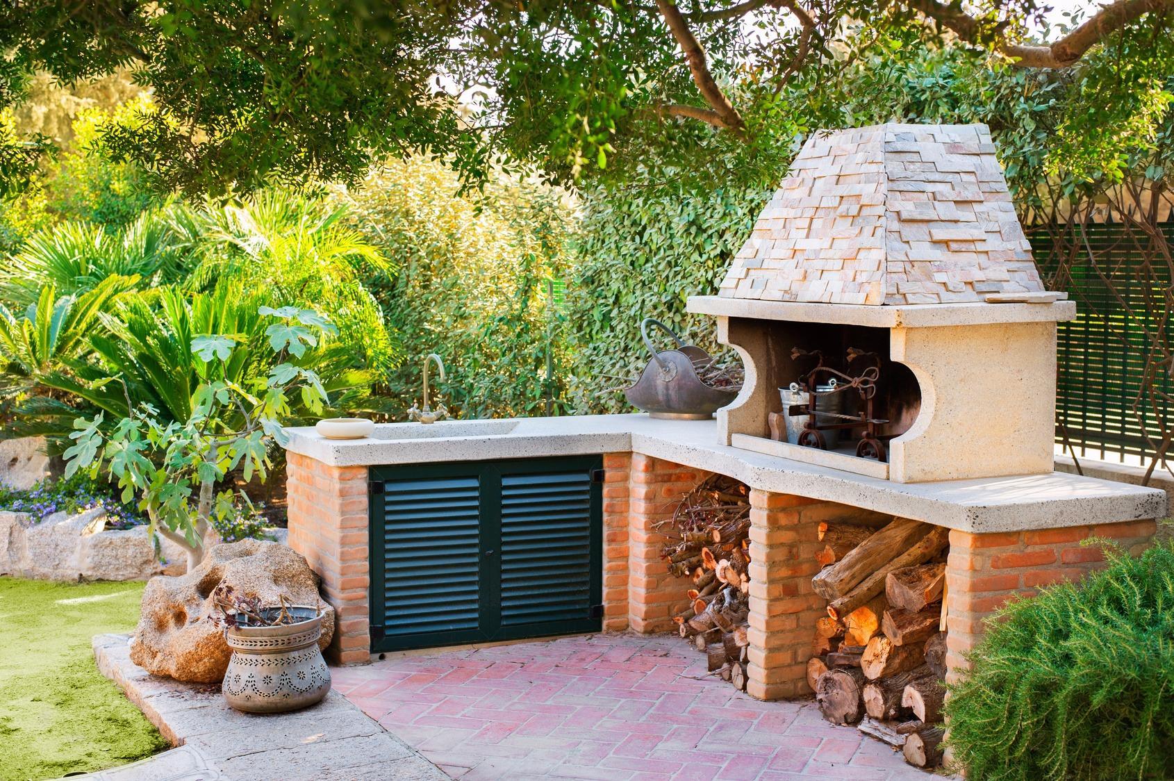 Как обустроить летнюю кухню на даче своими руками фото