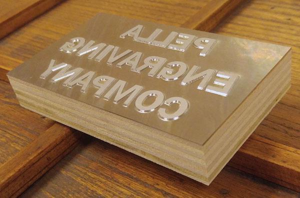 Magnesium letterpress die