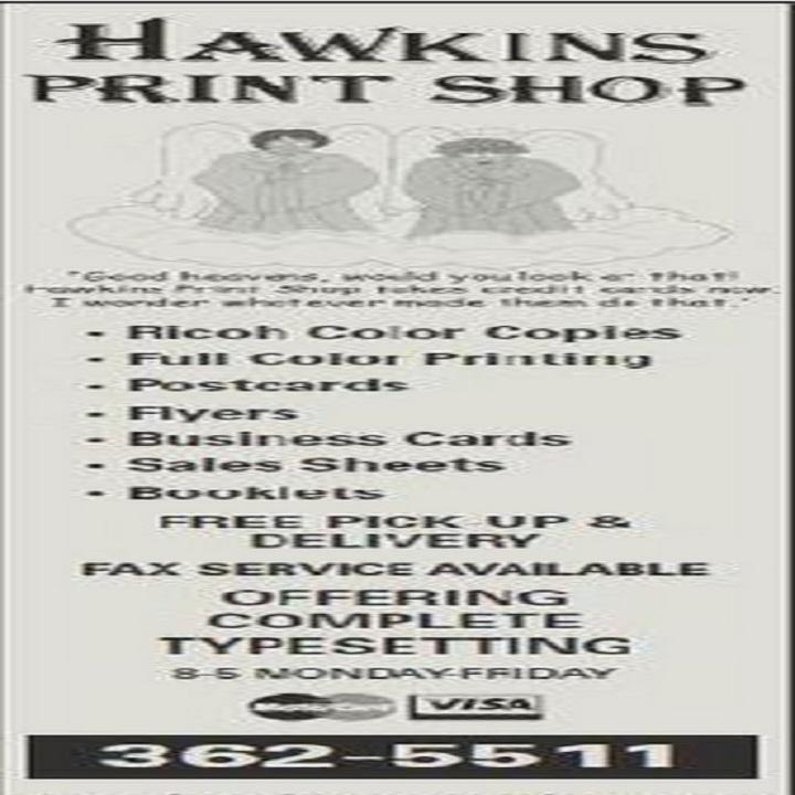 Hawkins Print Shop image 2