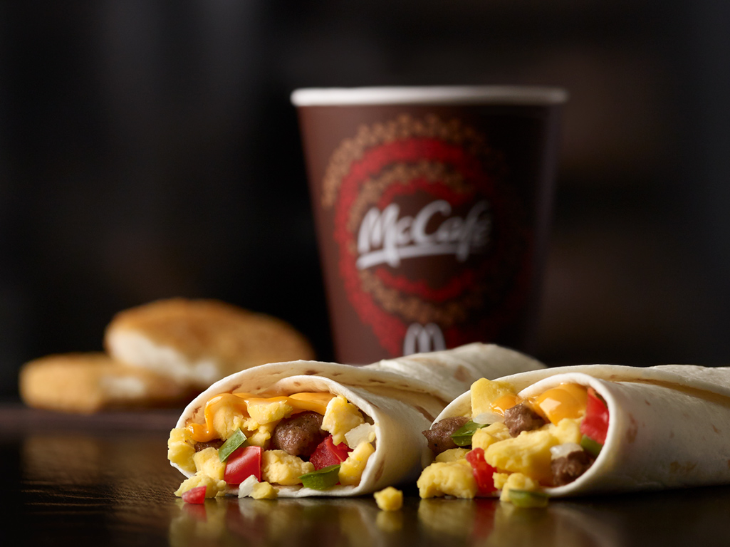 McDonald's Sausage Burrito Extra Value Meal