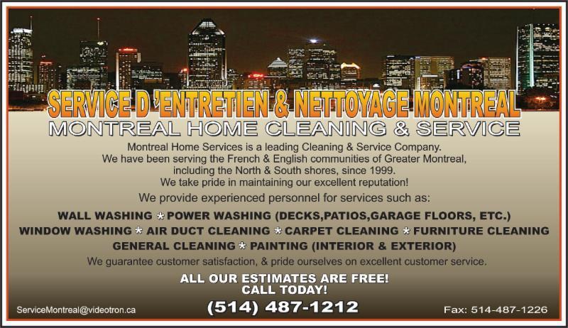 Services d'Entretien et de Nettoyage Montréal à Montréal