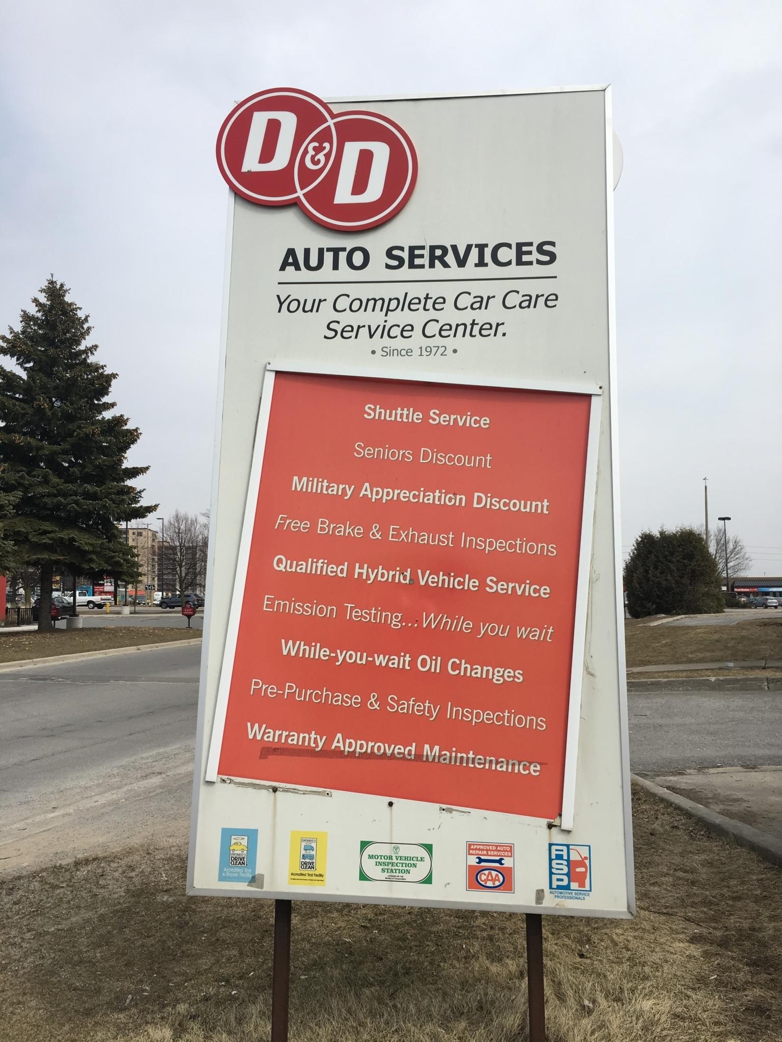 D & D Auto Services Ltd in Kingston