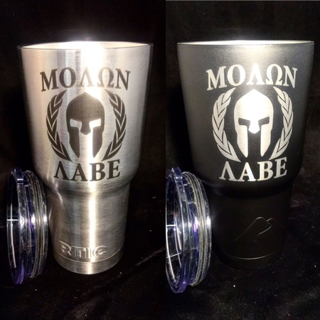Custom Engraved and powder coated tumblers. All colors available. $30 powder coat and $20 for engraving.