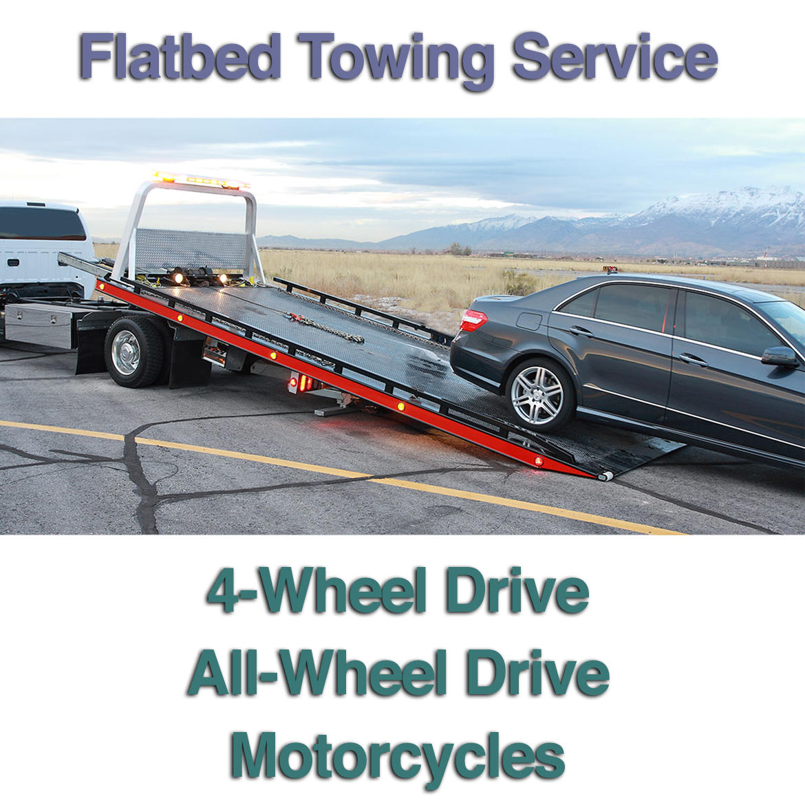 Towing with all wheels on the ground