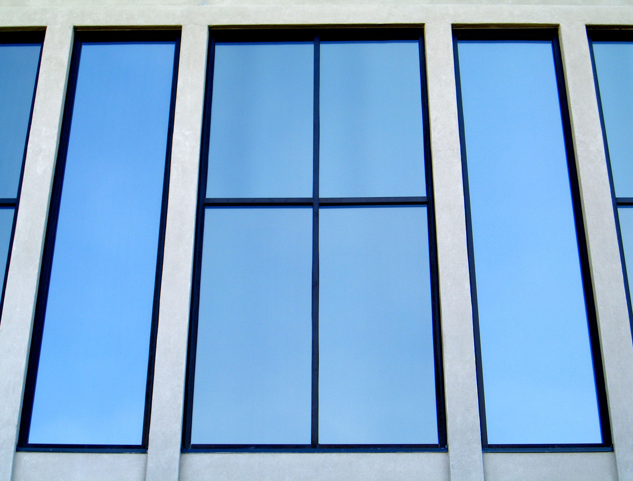 Commercial safety glass windows